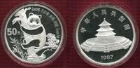 50 Yuan Panda 5 Unzen Silber 1987 China Vo...