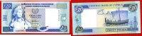 Zypern, Cyprus 20 Pfund Lira Zypern, 20 Lira  1.10.1997 Antikes Segelschiff  Ser K000086