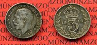 England  Great Britain  Grossbritannien 3 Pence Silber Großbritannien 3 Pence Silber 1918 Georg V. Kursmünze Circulation Coin