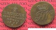 Brandenburg Preußen 1/2 Kreuzer Preußen Friedrich Wilhelm II. 1/2 Kreuzer Breslau für Schlesien