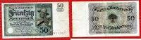 Weimarer Republik Rentenbank 50 Rentenmark 50 Rentenmark 20. März 1925 Bauer