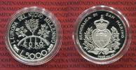 San Marino 5000 Lire Silber San Marino 5.000 Lire 1998 Pflanzen Europas PP