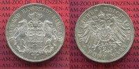 5 Mark Silbermünze 1913 Hamburg Hamburg 5 Mark 1913 J, Silber, Stadtwap... 4759 руб 75,00 EUR  zzgl. 266 руб Versand