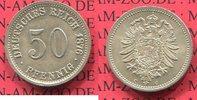 Kaiserreich German Empire 50 Pfennig Silber circulation coin 50 Pfennig Silber, 1876 C J. 7, Kursmünze