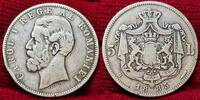 5 Lei Silber 1885 Rumänien Romania Rumänien 5 Lei Silber 1885 Carol. I.... 1550,00 EUR  +  8,50 EUR shipping
