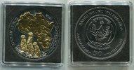 50 Francs Silbermünze 2016 Ruanda Rwanda G...
