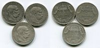 3 x 5 Korona Silber 11900, 07, 09 Österrei...
