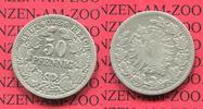 Kaiserreich 50 Pfennig 50 Pfennig Silber, 1877 G J. 8 schön bis sehr schön