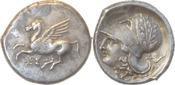 Isthmos,Korinth.Stater 350-306 v.Chr. Gutes sehr schön/Vorzüglich