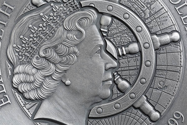 WHYDAH GALLY Grand Shipwrecks in a History 2019 2 oz Silver Coin Niue