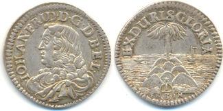1/3 Palmbaumtaler o.J. Braunschweig Calenberg Hannover: Johann Friedrich, 1665-79: fast vz, hübsche Erhaltung !