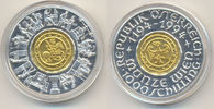 1000 Schilling Gold / Silber Münze Wien 19...