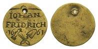 Jeton 1661. Sachsen:  Gelocht, ss
