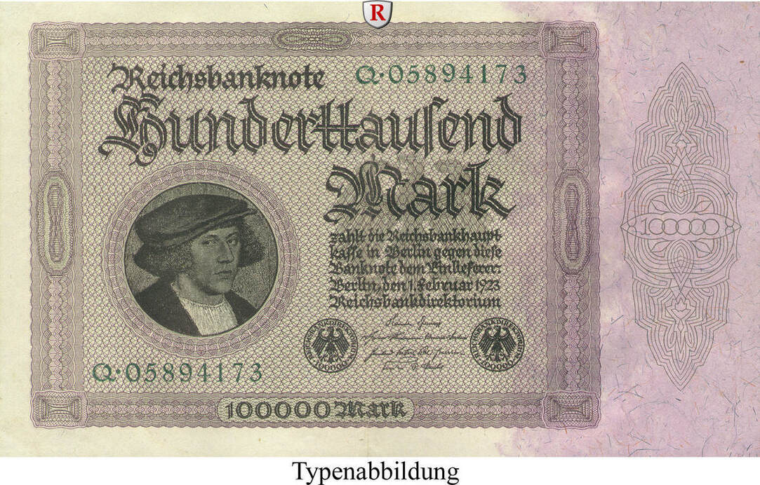 100000 Mark 1923-02-01 Inflation 1919-1924 II