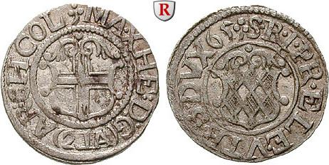 2 Albus 1665 Köln, Bistum Maximilian Heinrich von Bayern, 1650-1688 ss+