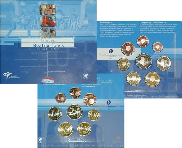 Euro-Kursmünzensatz 2005 Niederlande Beatrix, 1980-2013 st