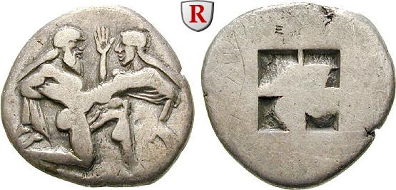 Stater 525-463 v.Chr. Thrakische Inseln Thasos ss+