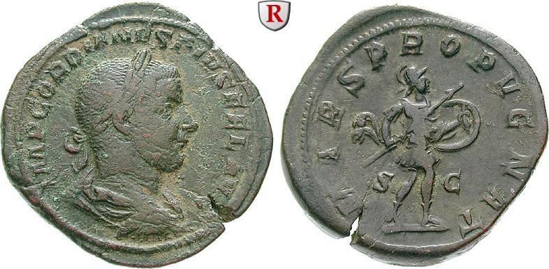 Sesterz 243-244 Gordianus III., 238-244 ss