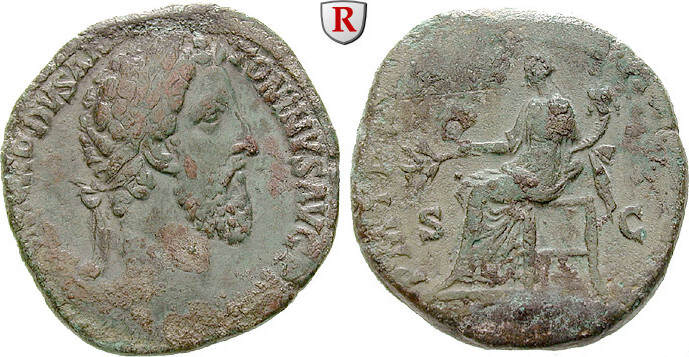 Sesterz 183-184 Commodus, 177-192 ss