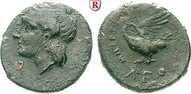 Bronze 350-300 v.Chr. Ionien Leuke s-ss, schwarze Patina