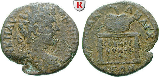 Bronze 193-211 Thrakien Anchialos, Septimius Severus, 193-211 s-ss, kleiner Schrötlingsfehler