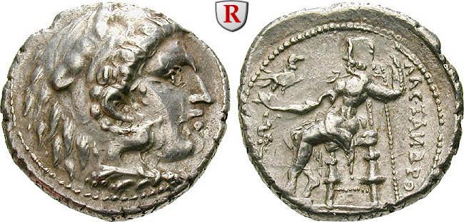 Tetradrachme 3.Jh. v.Chr. Ostkelten Vorbild: Alexander III. f.vz, leichter Doppelschlag