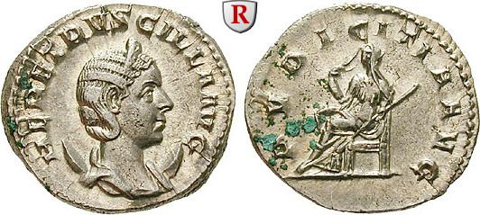 Antoninian 249-251 Herennia Etruscilla, Frau des Traianus Decius vz-st