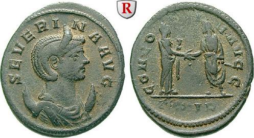 Antoninian 274-275 Severina, Frau des Aurelianus, 270-275 ss+