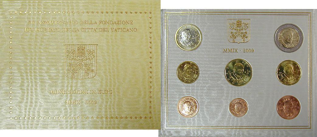 Euro-Kursmünzensatz 2009 Vatikan Benedikt XVI., 2005-2013 st