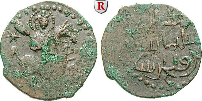 Fals 1196-1204 Seldschuken von Rum Rukn al-Din Sulayman, 1196-1204 ss+, Rs. schwach geprägt, leicht belegt