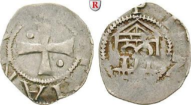 Denar um 1100 Frankreich Metz, Anonym f.ss, übliche Prägeschwäche