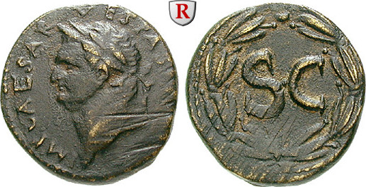 Bronze Seleukis und Pieria Antiocheia am Orontes, Vespasianus, 69-79 ss, Kratzer, dunkelbraune Patina
