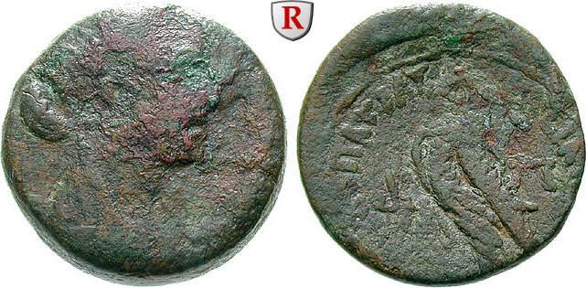Bronze 36-34 v.Chr. Ägypten Königreich der Ptolemäer, Kleopatra VII., 51-30 v.Chr. s