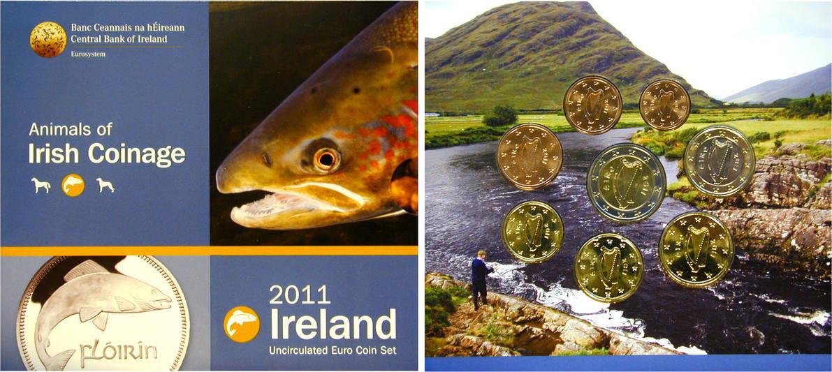 Euro-Kursmünzensatz 2011 Irland Republik, seit 1946 st