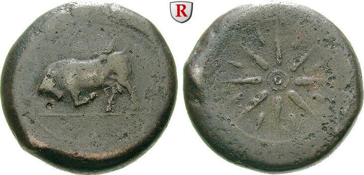 Bronze 344-336 v.Chr. Sizilien Kampaner f.ss