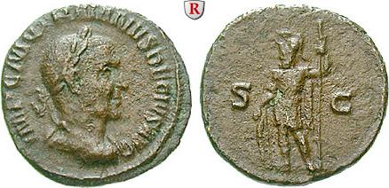 Semis 249-251 Traianus Decius, 249-251 ss, rot-braune Patina