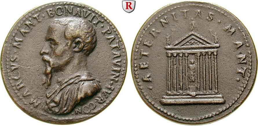Bronzemedaille o.J. Personenmedaillen Benavides, Marco Mantova - Italienischer Jurist, 1489-1582 ss-vz, später Guß