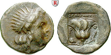 Drachme 170-150 v.Chr. Karien - Inseln Rhodos ss / ss+, dunkle Tönung