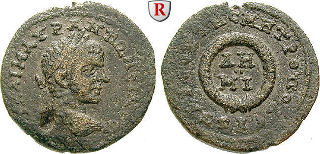 Bronze Kilikien Tarsos, Elagabal, 218-222 ss, Vs. Schrötlingsfehler