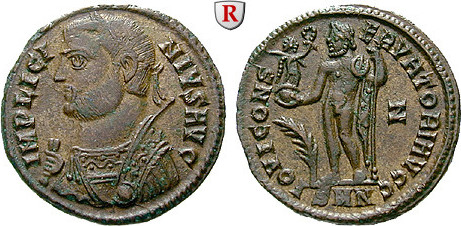 Follis 317-320 Licinius I., 308-324 f.vz