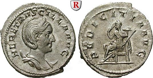 Antoninian 249-251 Herennia Etruscilla, Frau des Traianus Decius f.st