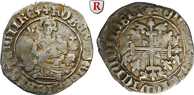 Grosso 1309-1349 Italien Neapel, Robert von Anjou, 1309-1349 ss