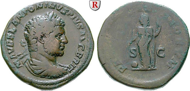 Sesterz 210-213 Caracalla, 198-217 ss / f.ss