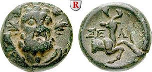 Bronze 2.-1.Jh. v.Chr. Pisidien Selge f.ss / ss+