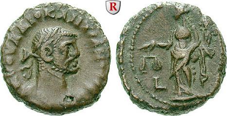 Tetradrachme Ägypten Alexandria, Diocletianus, 284-305 ss, Rs. dezentriert
