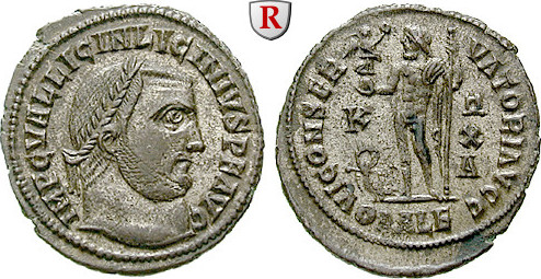 Follis 316-317 Licinius I., 308-324 vz+