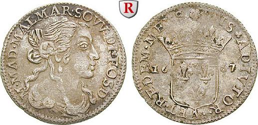 Luigino 1667 Italien Toscana, Maria Maddalena Centurioni Malaspina, 1667-1669 ss+