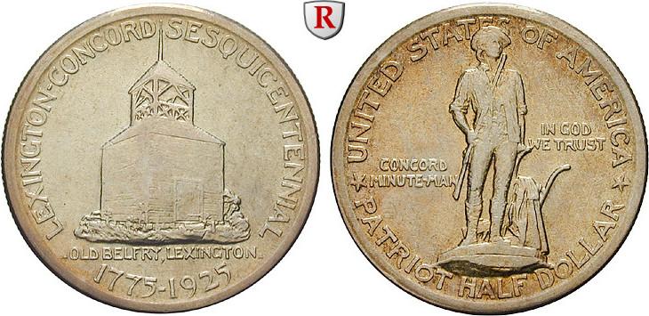 1/2 Dollar 1925 USA Gedenkprägungen ss-vz