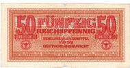 Besatzungsausgaben des 2. Weltkrieges 1939-1945 50 Reichspfennig Behelfzahlmittel der Wehrmacht
