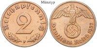 Klein- und Kursmünzen 2 Reichspfennig 2 Reichspfennig 1939, G, Cu. J.362.